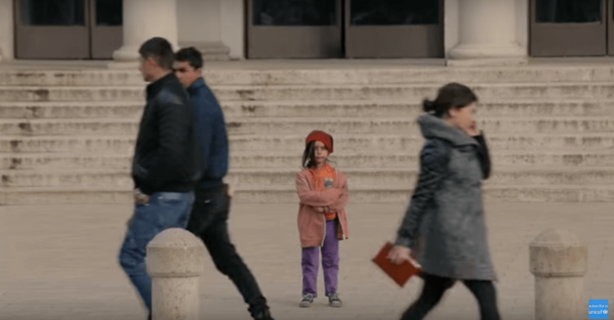 Would you stop if you saw this little girl on the street?