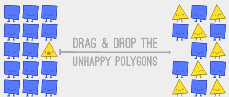 多角形のたとえ話(Parable of the Polygons) 1