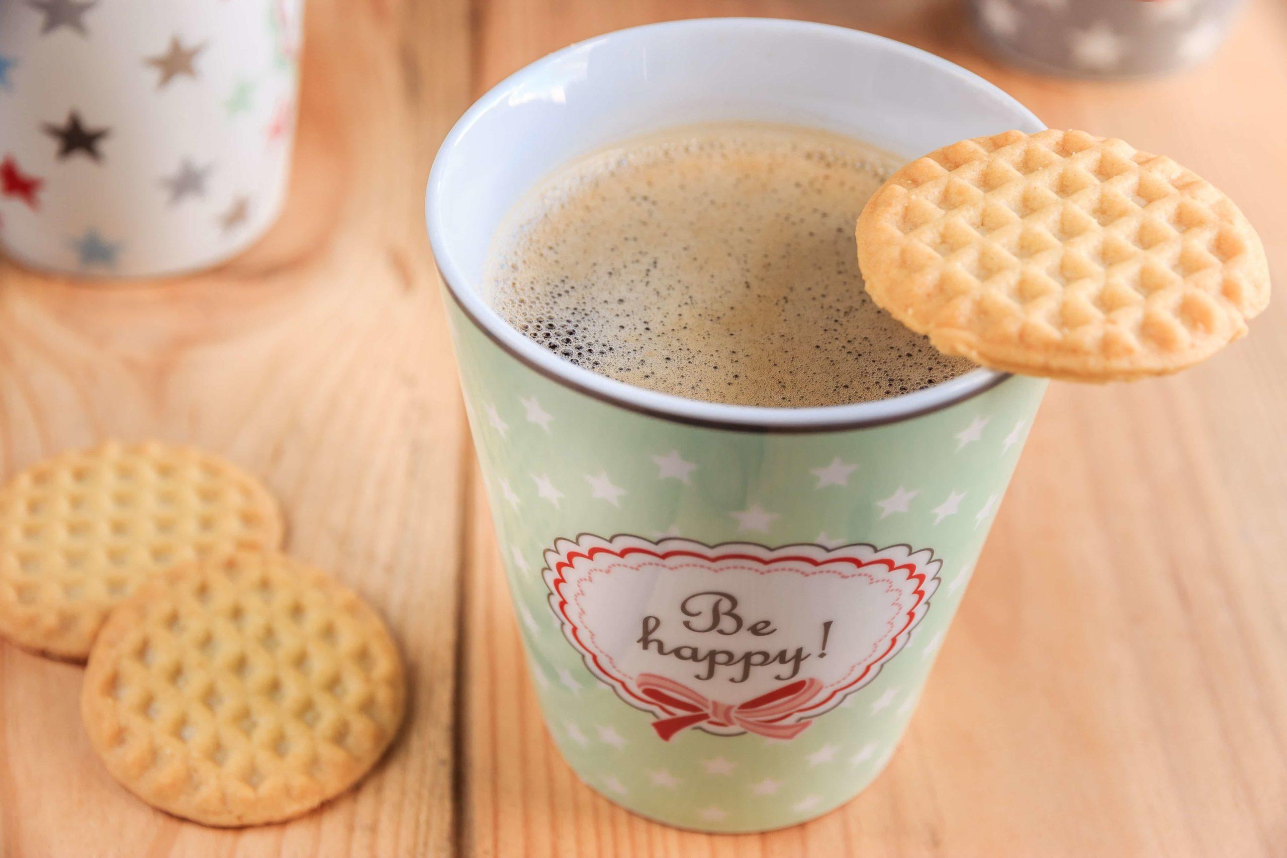 コーヒーとクッキーで休憩