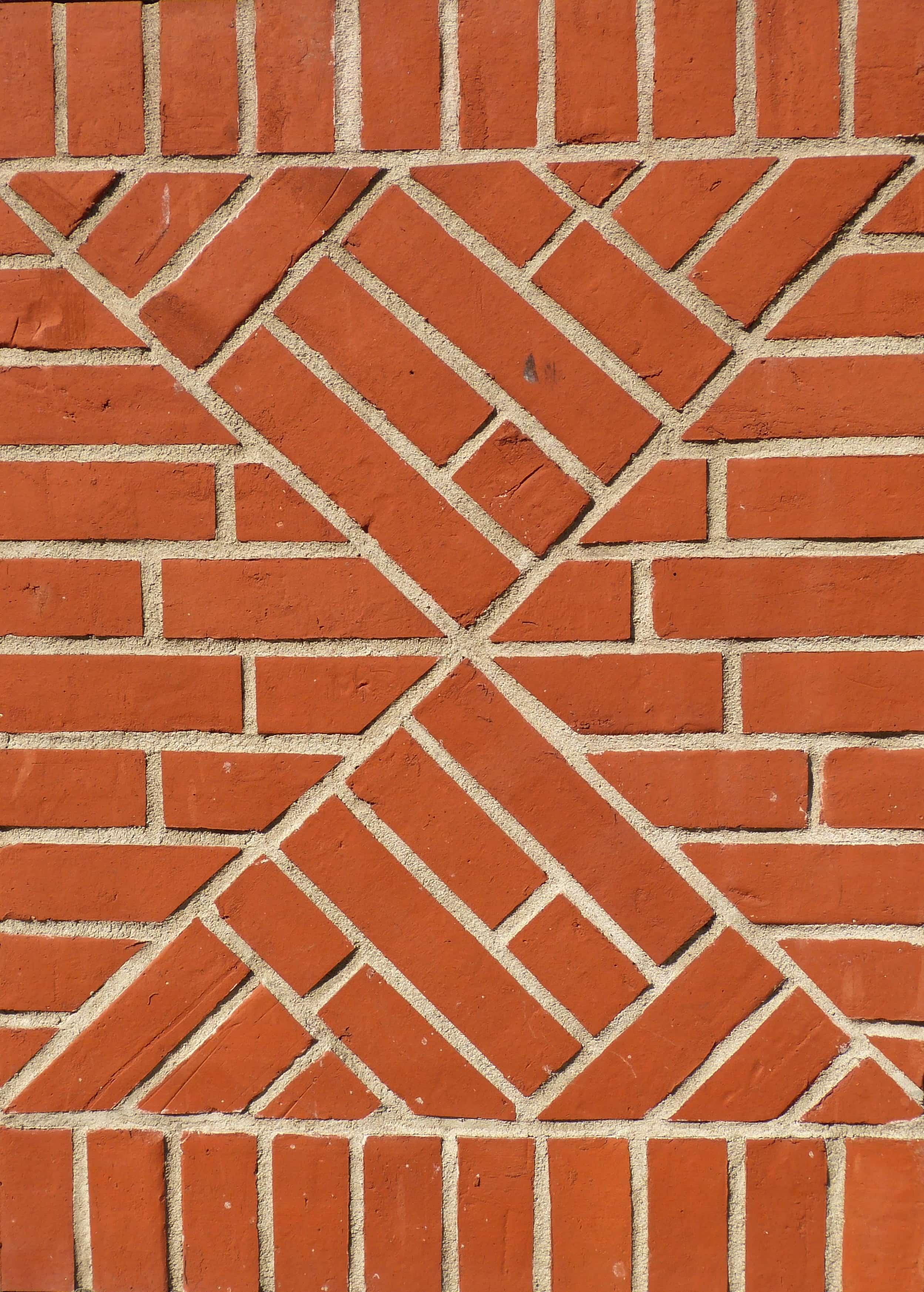 レンガに描かれた2つの三角