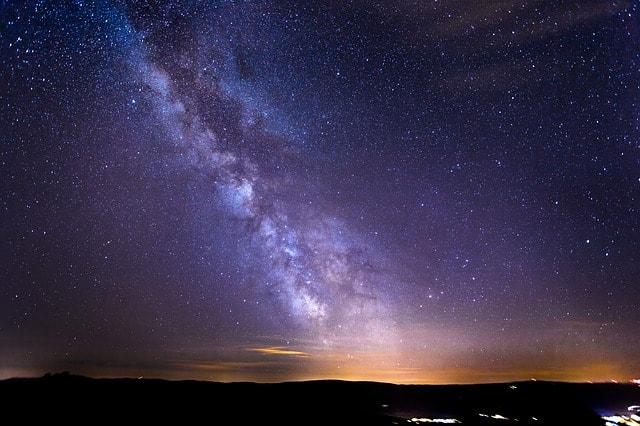 ある日のスイスの夜空