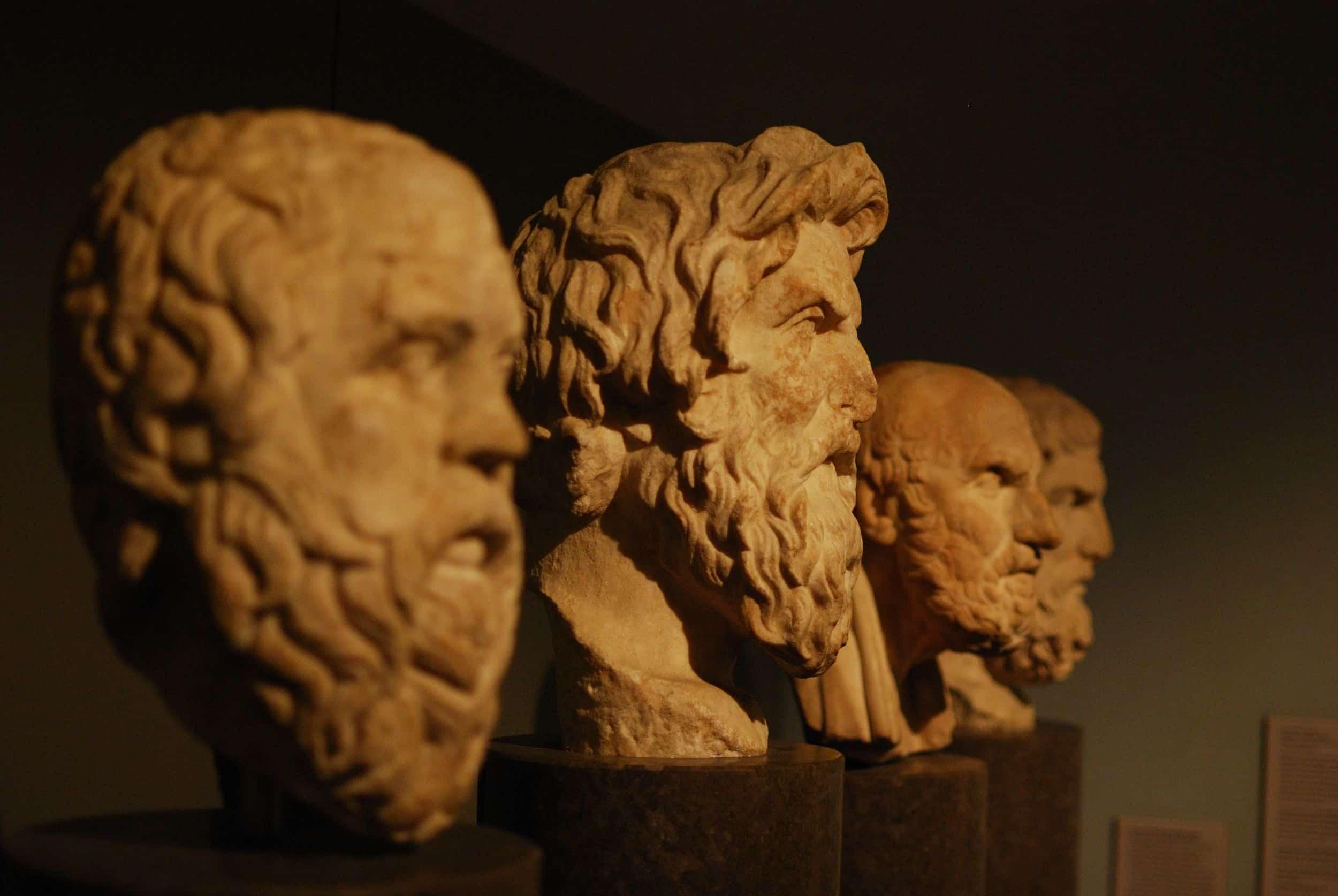 3人の哲学者の胸像