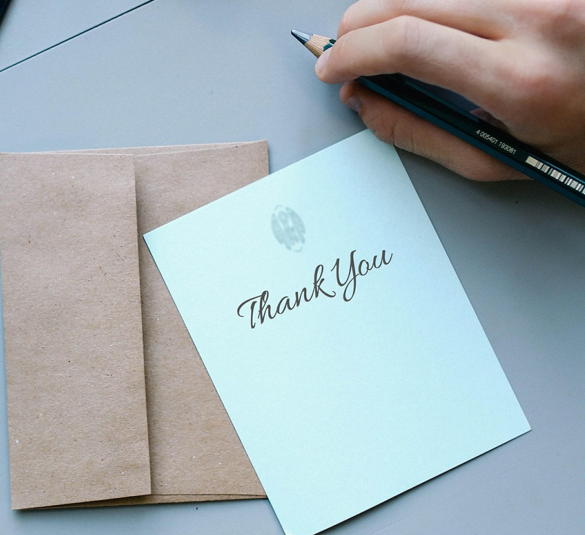封筒のなかのありがとう